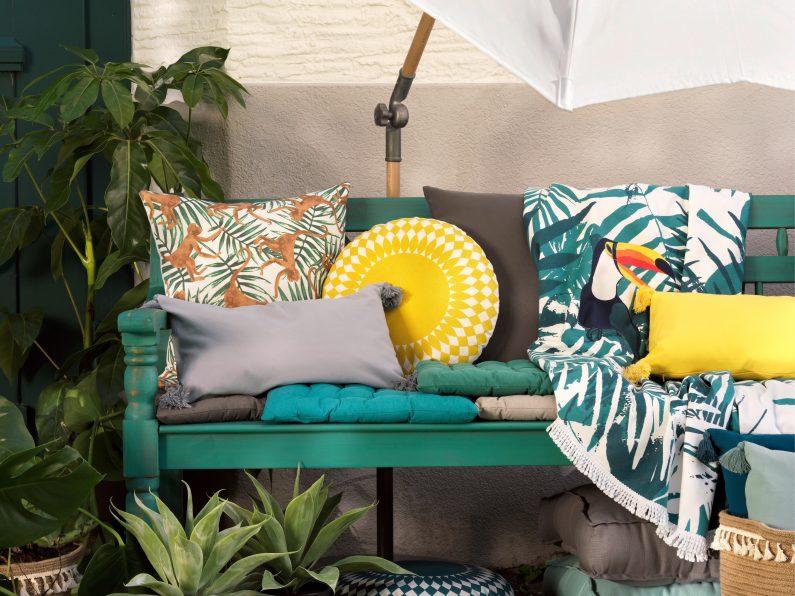Farben und Kissen Calypso Style